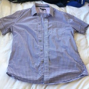 Banana Republic purple gingham shirt sz M